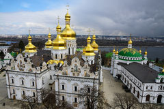 Kiev-Pechersk Lavra bij de lente Royalty-vrije Stock Foto