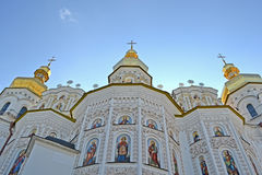 Kiev-Pechersk Lavra dome on blue sky, Royalty Free Stock Images