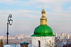 Kiev - Pechersk Lavra. Golden dome of the church Royalty Free Stock Photos