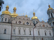 Kiev-Pechersk Lavra himmel Ukraina Arkivfoto