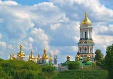 Kiev Pechersk Lavra in Kiev. Orthodox Christian monastery - Kiev Pechersk Lavra in Kiev on green hills of Pechersk Royalty Free Stock Photos