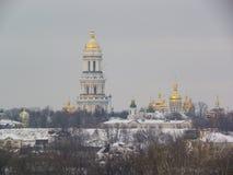 Kiev-Pechersk Lavra, Kiev, Ucrânia, inverno Fotografia de Stock