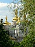 Kiev Pechersk Lavra or Kyiv Pechersk Lavra, Spring. Golden domes of Kiev Pechersk Lavra or Kyiv Pechersk Lavra, Spring, sunny day Stock Image