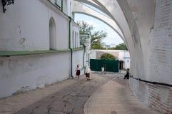 Kiev Pechersk Lavra, la descente dans le Lavra inférieur Photos libres de droits