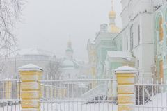 Kiev Pechersk Lavra Monastery church, Ukraine. Royalty Free Stock Photography