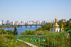 Kiev Pechersk Lavra monastery and Dnieper river Royalty Free Stock Photo