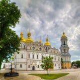 Kiev Pechersk Lavra monastery in Kiev, Ukraine. In the evening Royalty Free Stock Photo