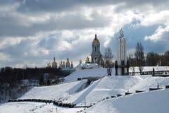 Kiev Pechersk Lavra Nationaal Museumgedenkteken aan Holodomor de Oekraïne stock afbeeldingen