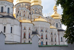 Kiev-Pechersk Lavra, o fragmento da catedral de Dormition Fotos de Stock Royalty Free