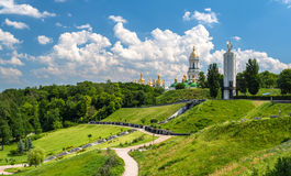Kiev Pechersk Lavra Orthodox Monastery and Memorial to famine (h Royalty Free Stock Image