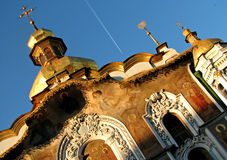 Kiev Pechersk Lavra ou Kyiv Pechersk Lavra, mola imagens de stock royalty free