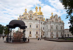 Kiev Pechersk Lavra, the reconstructed Cathedral of the Dormition Royalty Free Stock Photography