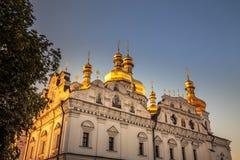 Kiev Pechersk Lavra. Us Pechersk Lavra Monastery shot at sunset in Kiev, Ukraine Royalty Free Stock Photo