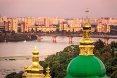 Kiev Pechersk Lavra. Us Pechersk Lavra Monastery shot at sunset in Kiev, Ukraine Stock Photography