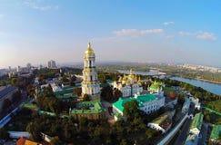 Kiev-Pechersk Lavra, vista aérea fotografia de stock