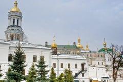 Kiev Pechersk Lavra. In winter Royalty Free Stock Photos