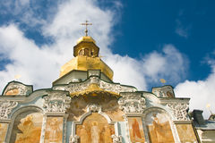 Kiev-Pecherskaya Laura. Beautiful Orthodox church Royalty Free Stock Photography