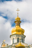 Kiev-Pecherskaya Laura. Church with Golden dome Royalty Free Stock Image