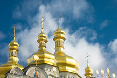 Kiev-Pecherskaya Laura. Cupola of Orthodox church Royalty Free Stock Images