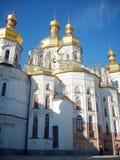 Kiev-Pecherskoy laurel. Golden dome in Kiev-Pecherskoy laurel Stock Image