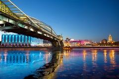 Kiev pedestrian bridge in Moscow Royalty Free Stock Photos