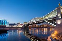 Kiev pedestrian bridge in Moscow Stock Images
