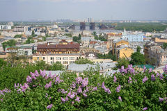 Kiev.Podol. Podol which lies along Dnieper bank is one of the oldest Kiev regions Stock Image