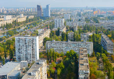 Kiev post-soviet architecture, Ukraine Stock Images