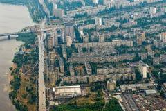 kiev powietrzny widok fotografia royalty free