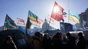 Kiev protesterar 2014 Fotografering för Bildbyråer