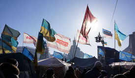 Kiev Protests 2014 Stock Images