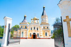 Kiev and religion. Holy Church of the Intercession on Solomenko. Stock Photo