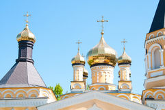 Kiev and religion. Holy Church of the Intercession on Solomenko. Royalty Free Stock Photos