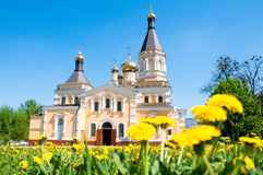 Kiev and religion. Holy Church of the Intercession on Solomenko. Royalty Free Stock Image