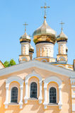 Kiev and religion. Holy Church of the Intercession on Solomenko Stock Photos