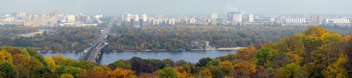 Kiev and the river Dnepr. Panorama of Kiev and the river Dnepr royalty free stock images