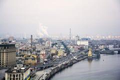 kiev Rivierpost royalty-vrije stock afbeelding