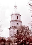 Kiev Saint Sophia Cathedral the bell tower May 1964. The bell tower of Saint Sophia Cathedral in Kiev, Ukraine, May, 1964 royalty free stock photos