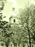 Kiev Saint Sophia Cathedral bell tower May 1964. Bell tower of Saint Sophia Cathedral in Kiev, Ukraine, May, 1964 Stock Image