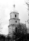 Kiev Saint Sophia Cathedral the bell tower 1964. Old black and white photo: The bell tower of Saint Sophia Cathedral in Kiev, Ukraine Stock Photos