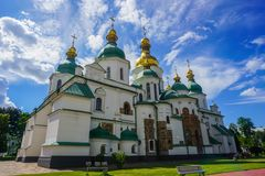 Kiev Saint Sophia`s Cathedral royalty free stock images
