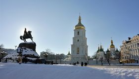 Kiev, Saint Sophia square Stock Photo