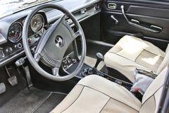 Kiev. September 9, 2016; Mercedes-Benz 280 SE Coupe 1969. Car interior luxury service. Car interior details. Mercedes-Benz 280 SE Coupe 1969. Car interior luxury royalty free stock photo