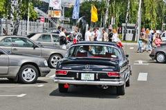 Kiev. September 9, 2016; Mercedes-Benz 280 SE Coupe 1969 in motion. Retro car. Mercedes-Benz 280 SE Coupe 1969 in motion. Retro car stock images