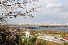 Kiev skyline. Skyline and buildings of Kiev across the river Royalty Free Stock Image