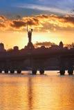 Kiev skyline Stock Images