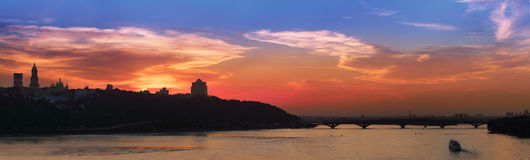 Kiev skyline Royalty Free Stock Photography