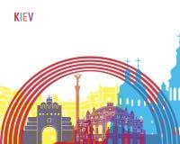 Kiev skyline pop Stock Image