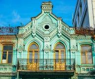 Kiev. Small balcony of old building in the center of Kiev, Ukraine Royalty Free Stock Photography
