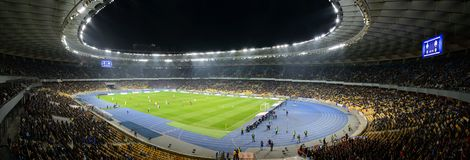 Kiev soccer arena, panorama Royalty Free Stock Photo